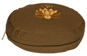 Meditationskissen Lotus oval olive