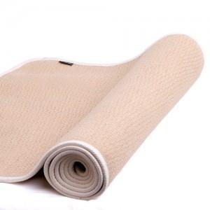 Yogamatte Naturkautschuk beige/braun