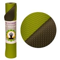 Yogamatte TPE 2-farbig grün/grau