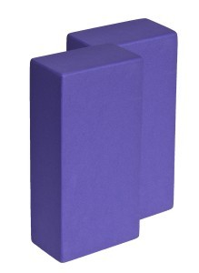Yogaklotz / Yoga Block high density lila 2 Stück