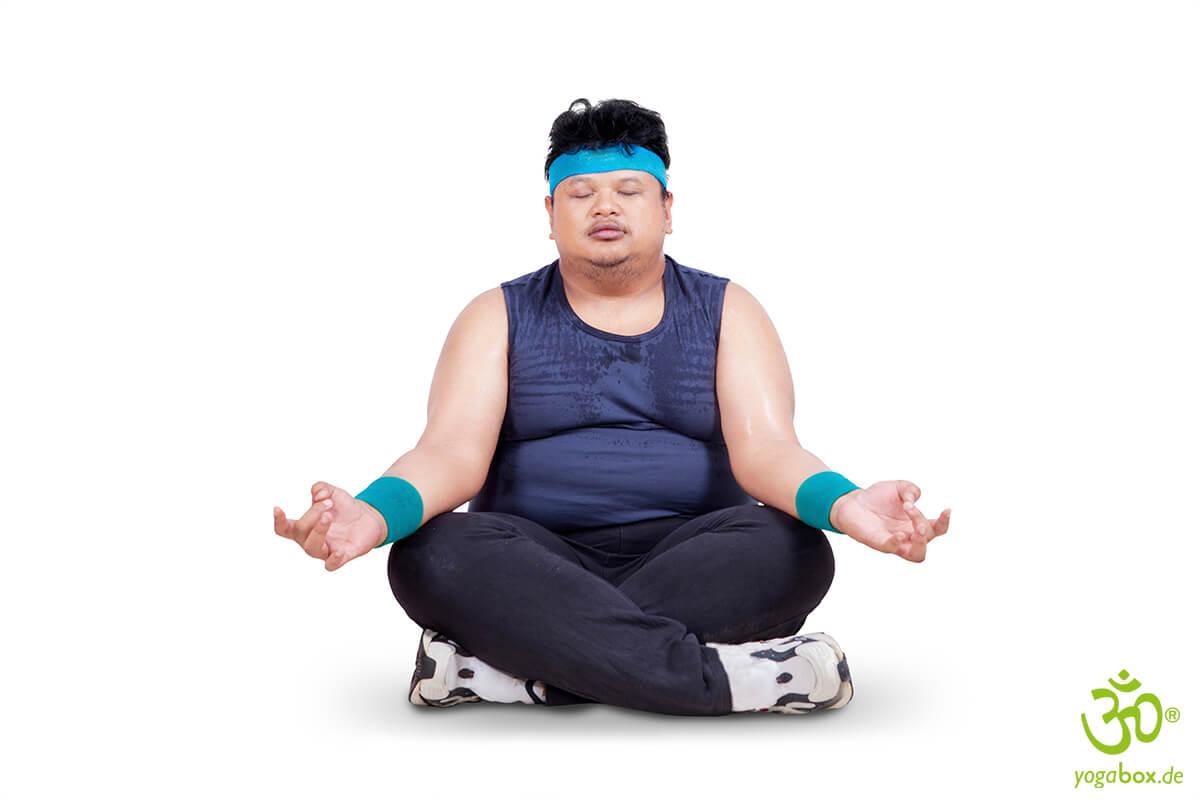 Kein Widerspruch: Übergewicht und Yoga