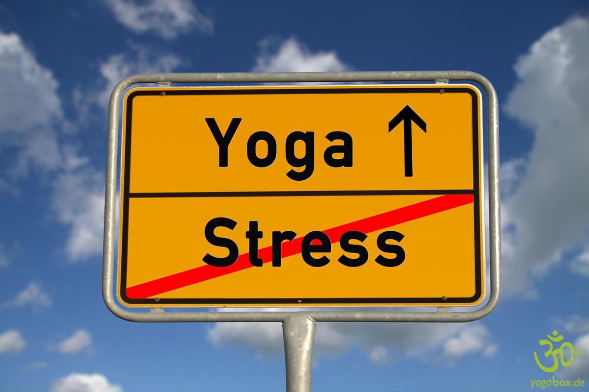 Yoga üben ohne Stress