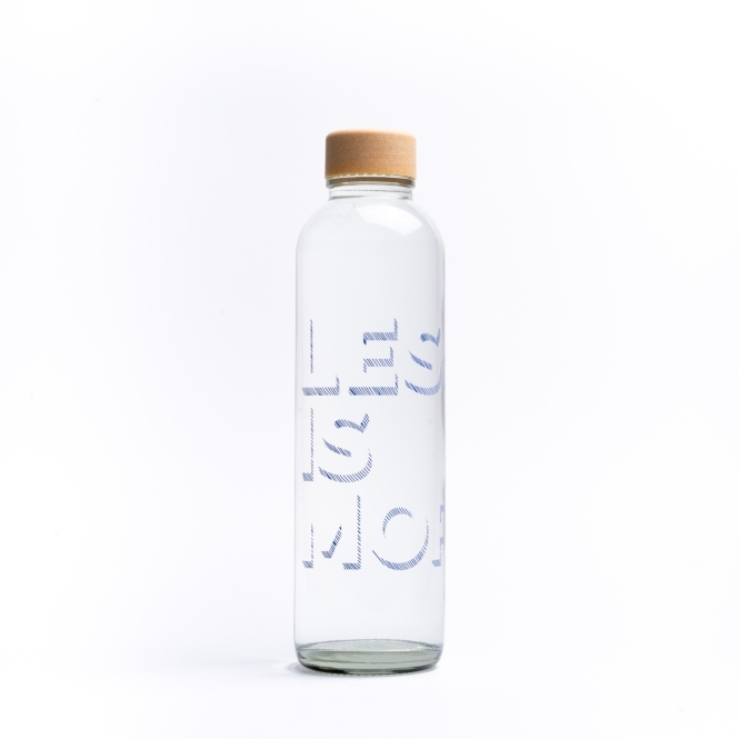 Glastrinkflasche CARRY 0.7 l LESS IS MORE