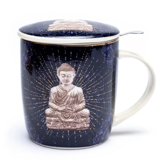 Set Teetasse Buddha blau