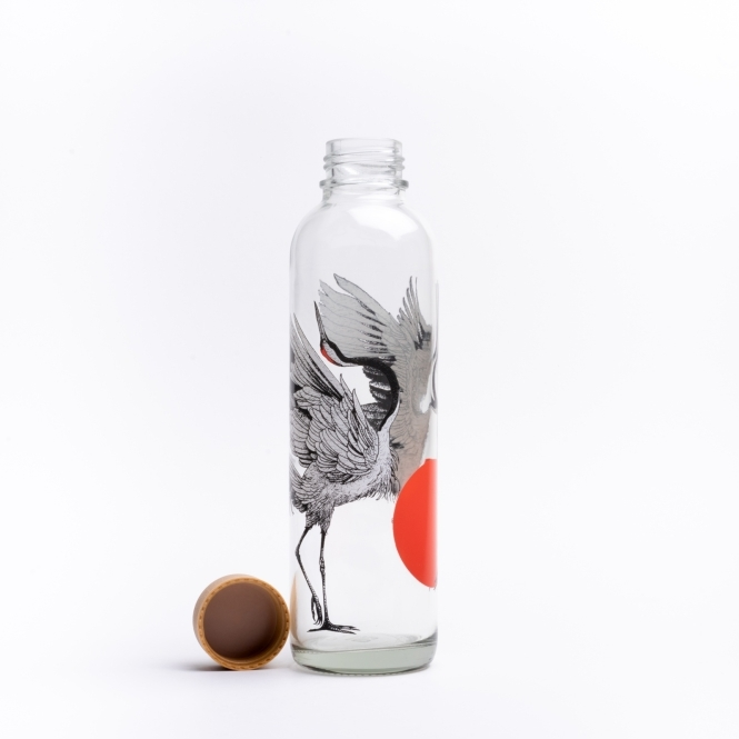 Glastrinkflasche CARRY 0.7 l DANCING CRANES
