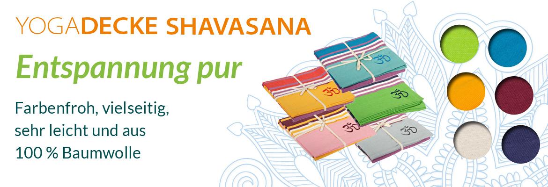 Yogadecke Shavasana - sehr feste und robuste Baumwolle