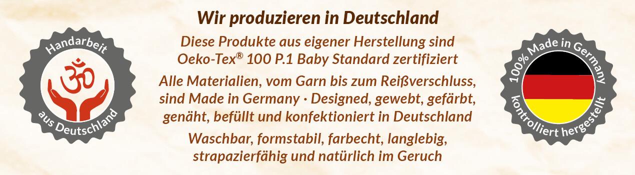 MIG-Banner Meditationskissen / Yogakissen Zafu Made in Germany